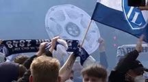 Fans feiern VfL-Aufstieg