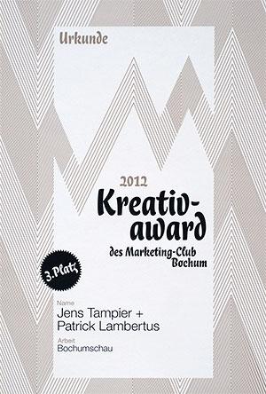 3. Platz Kreativ-Award 2012