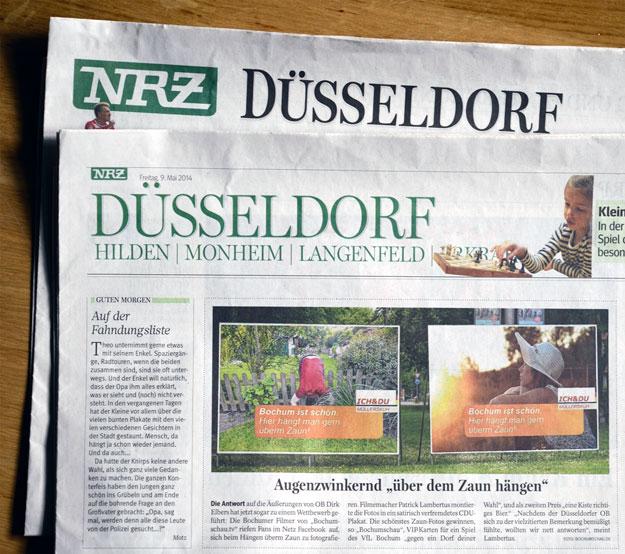 Bochumer antworten Düsseldorfer OB Dirk Elbers mit Humor