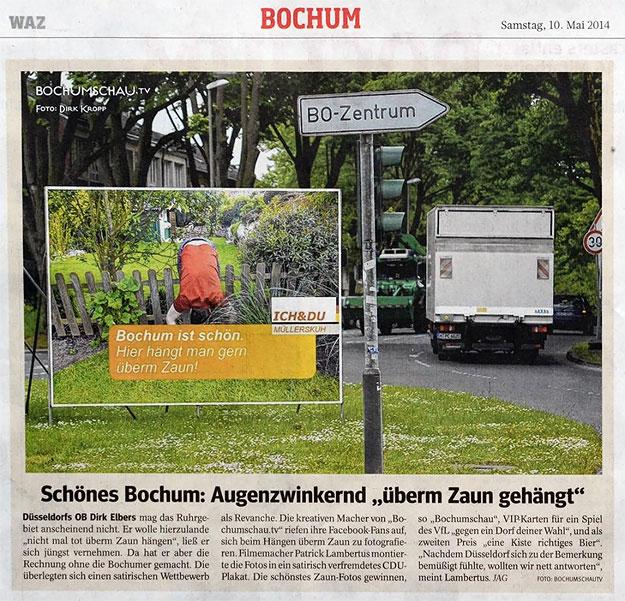 """Schönes Bochum: Augenzwinkernd """"überm Zaun gehängt"""""""