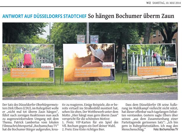 ANTWORT AUF DÜSSELDORFS STADTCHEF: So hängen Bochumer überm Zaun