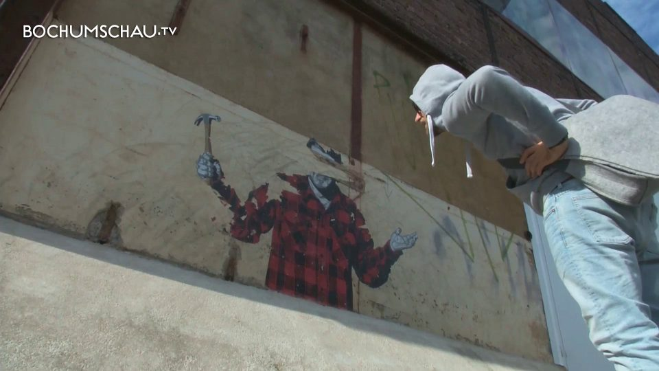 Künstler Bochum bochums banksy streetart künstler dekoriert bochum mit paste ups