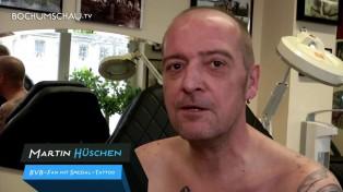 BeKloppt! Jürgen Klopp Tattoo, Portrait samt Meisterschale
